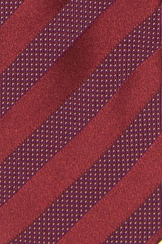 Cravata poliester tesut grena cu dungi