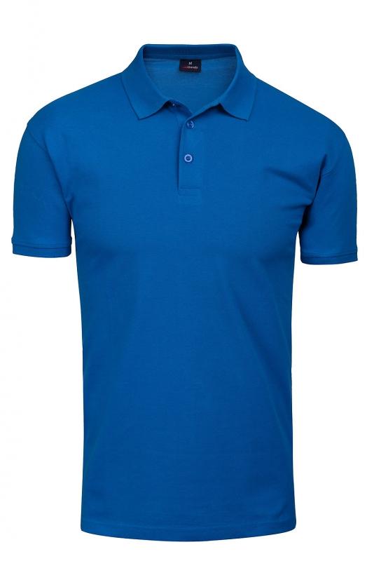 tricou polo slim albastru uni