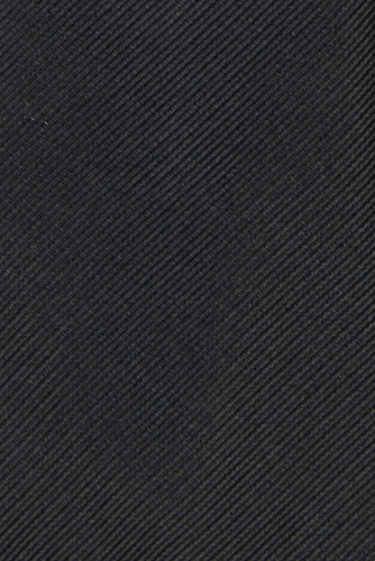 Cravata poliester tesut neagra uni