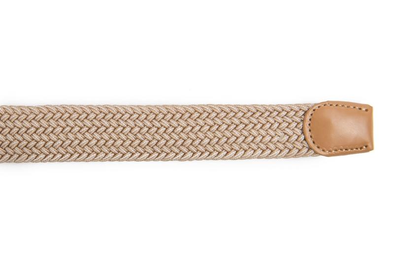 Curea maro din material textil si piele