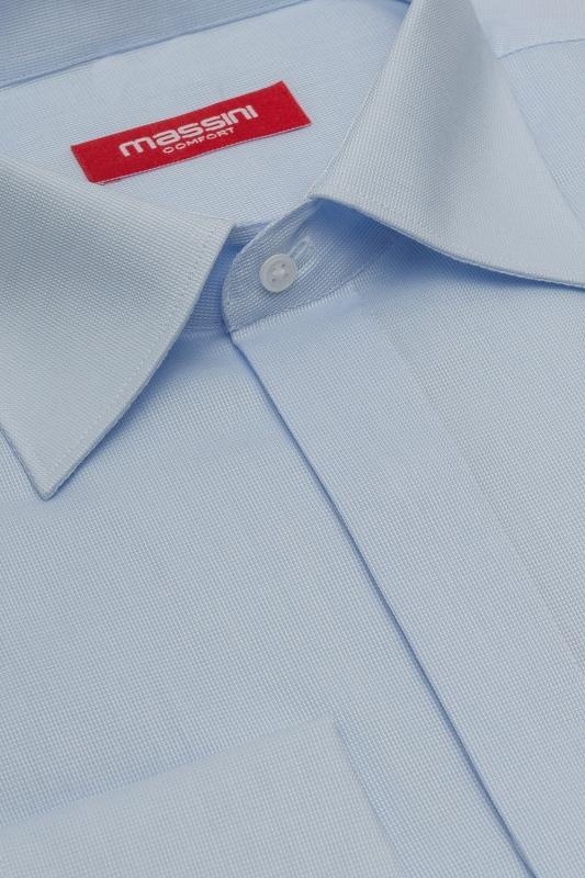 Camasa regular bleu uni