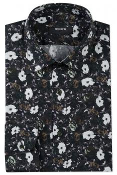 Camasa bigotti slim kaki print floral