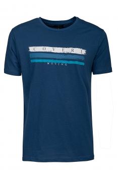 Tricou albastru print