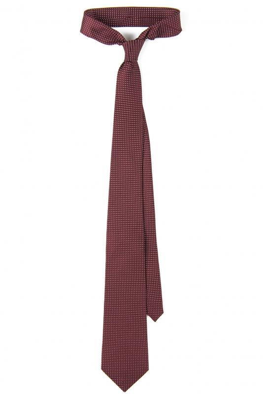 Cravata matase tesuta grena print geometric