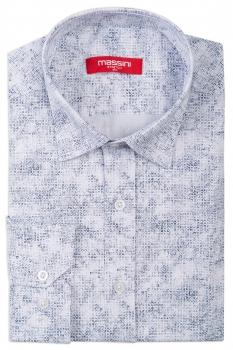 Camasa alba slim print geometric