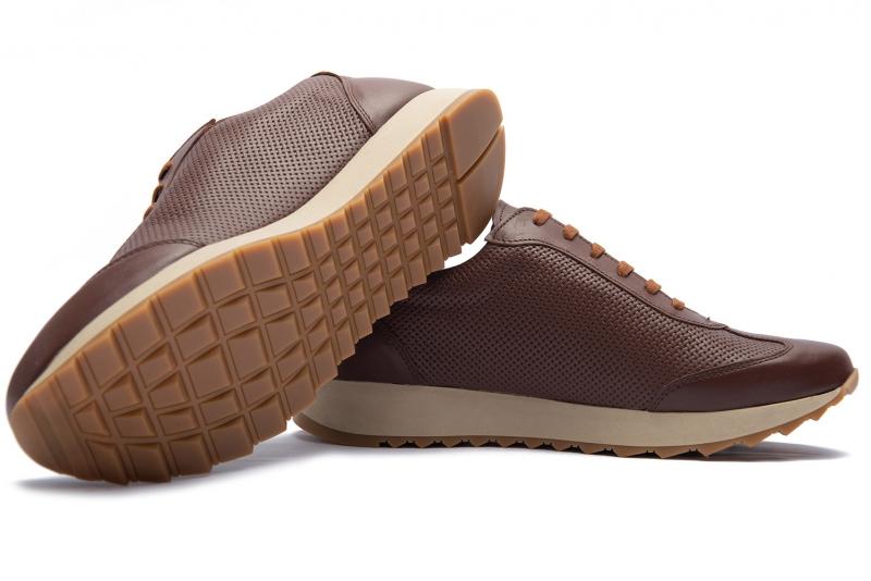 Sneakers Bigotti maro piele naturala