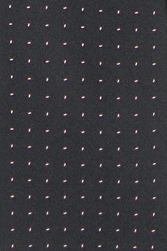 Cravata poliester tesut neagra print geometric