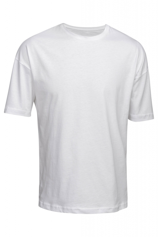 Tricou alb oversize