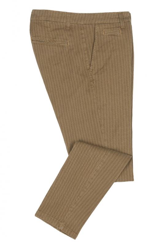 Pantaloni slim bej print