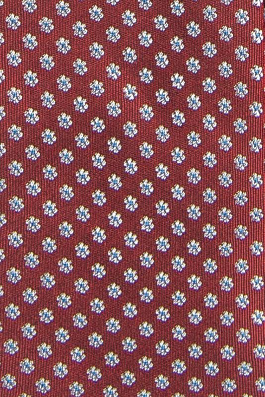 Cravata matase tesuta rosie print floral
