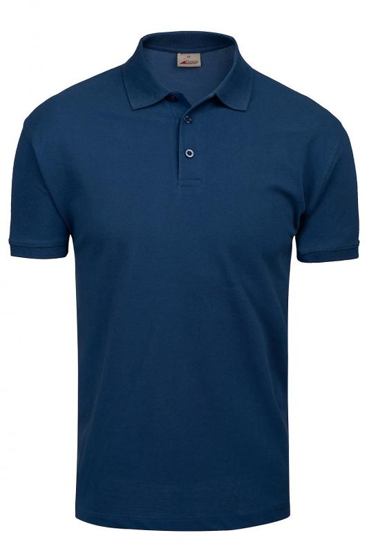 tricou polo slim bleumarin uni