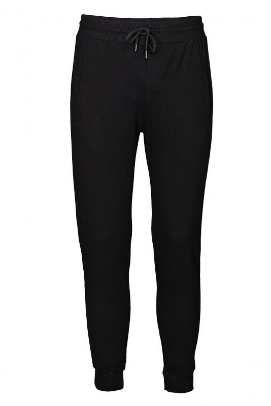Pantaloni trening slim negri