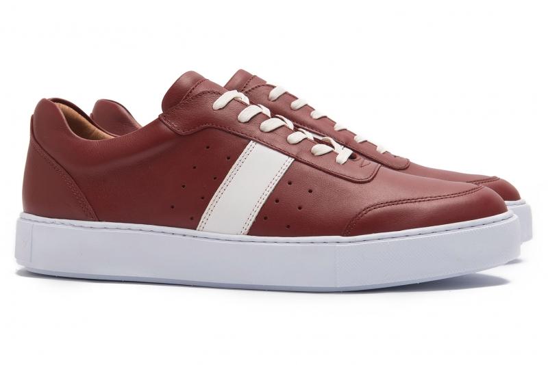 Sneakers rosii piele naturala