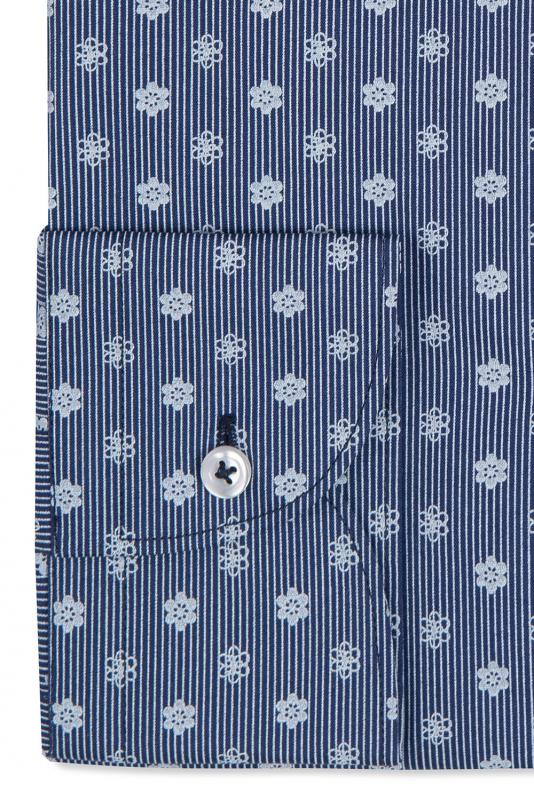 Camasa superslim bleumarin print geometric